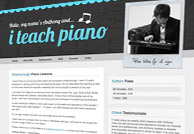 music tuition web design